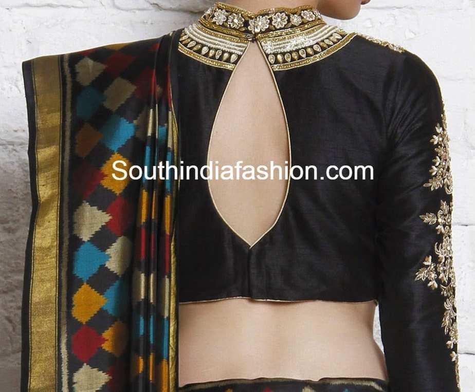 high neck maharani blouse