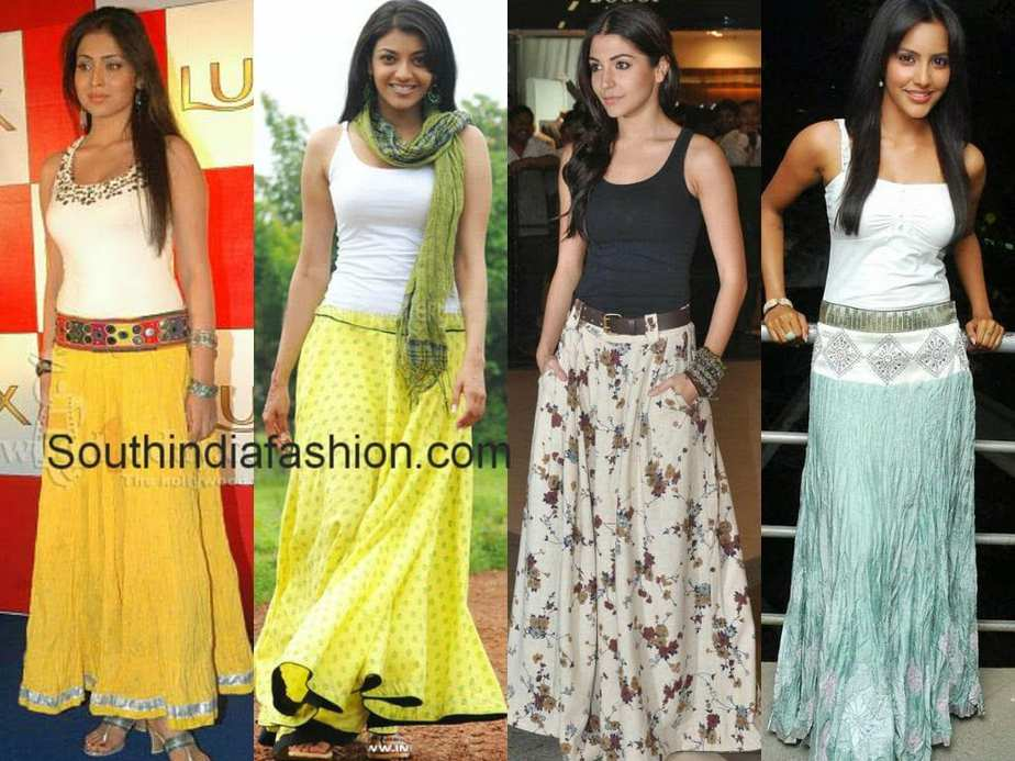 What to wear with a long skirt in winter: tips for fashionistas 15