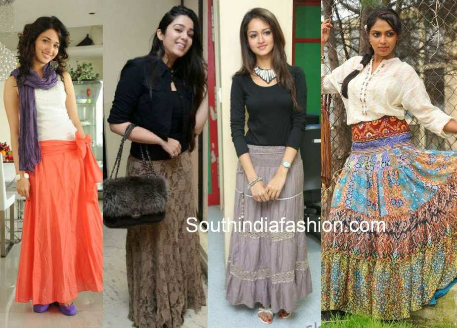 Some of the major types of skirts that you can come across these days are- A-line skirt, asymmetrical skirt, bubble skirt, draped skirt, layered skirt, mermaid skirt, pencil skirt, straight skirt, tulip .