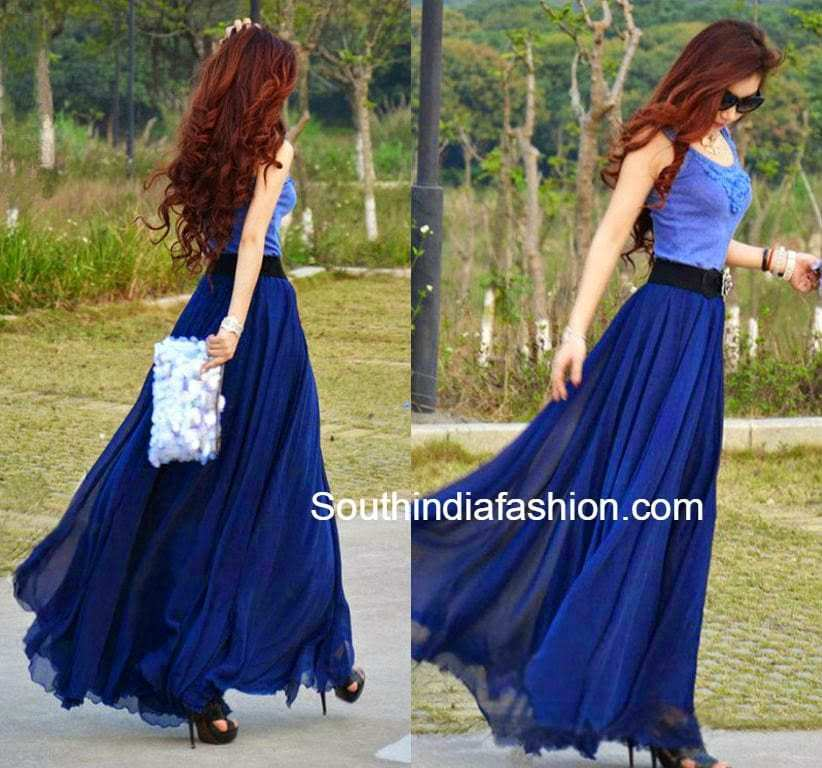 How to Wear and What to Wear with Long Skirts • South India Fashion