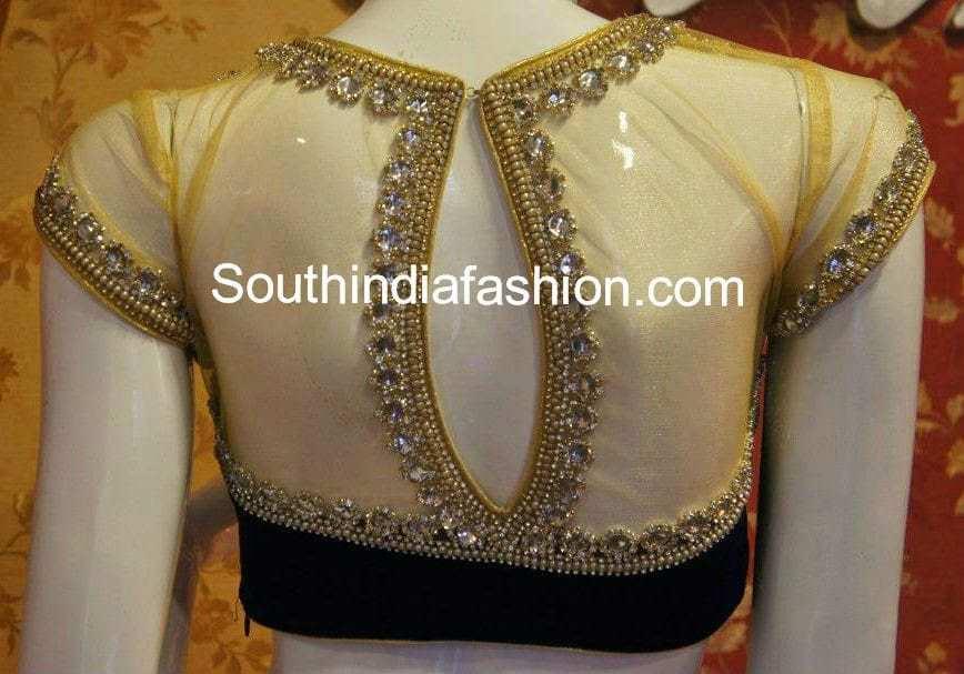 net back partywear saree blouse