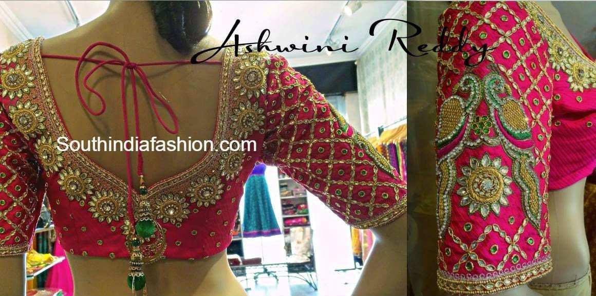 Stunning wedding saree blouse south india fashion