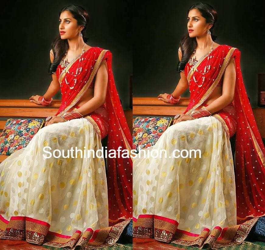 bhargavi kunam half sarees - photo #7