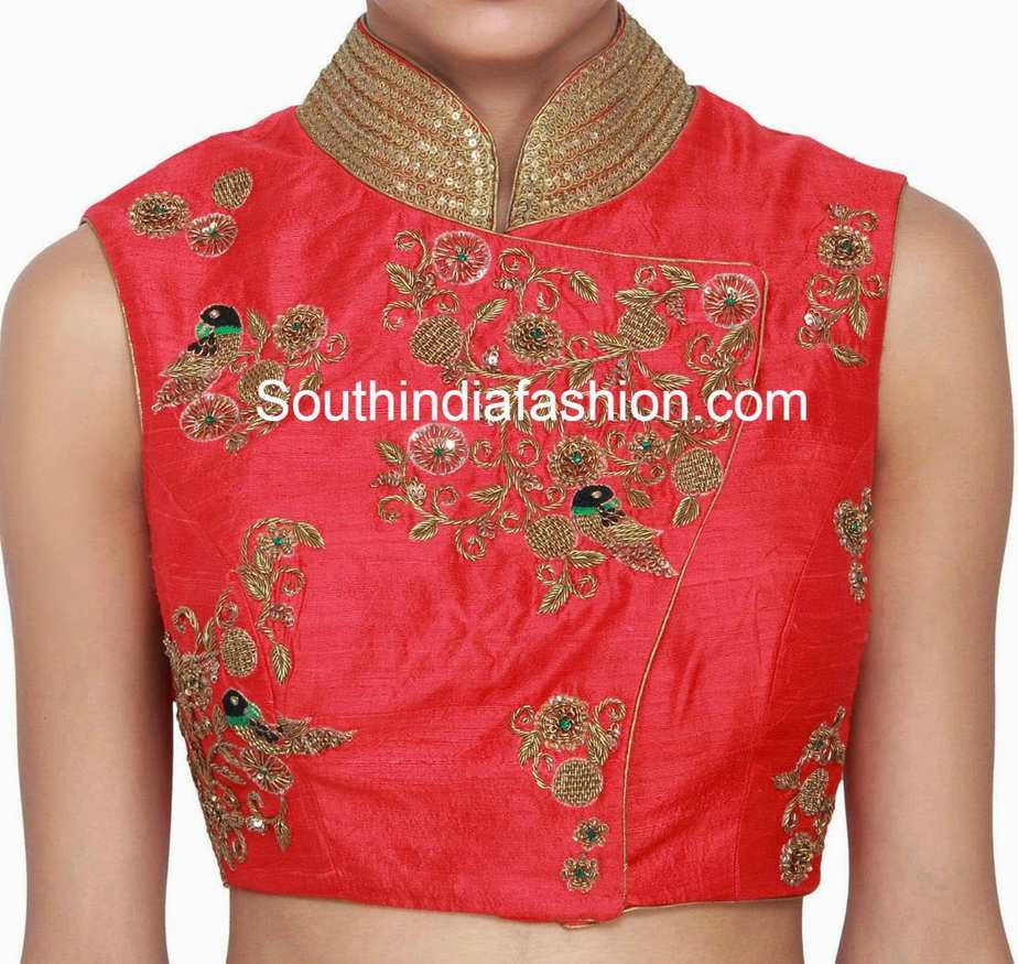 Zardosi Blouse Neck Designs 15