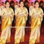 Elegant Gold Kanjeevaram Saree