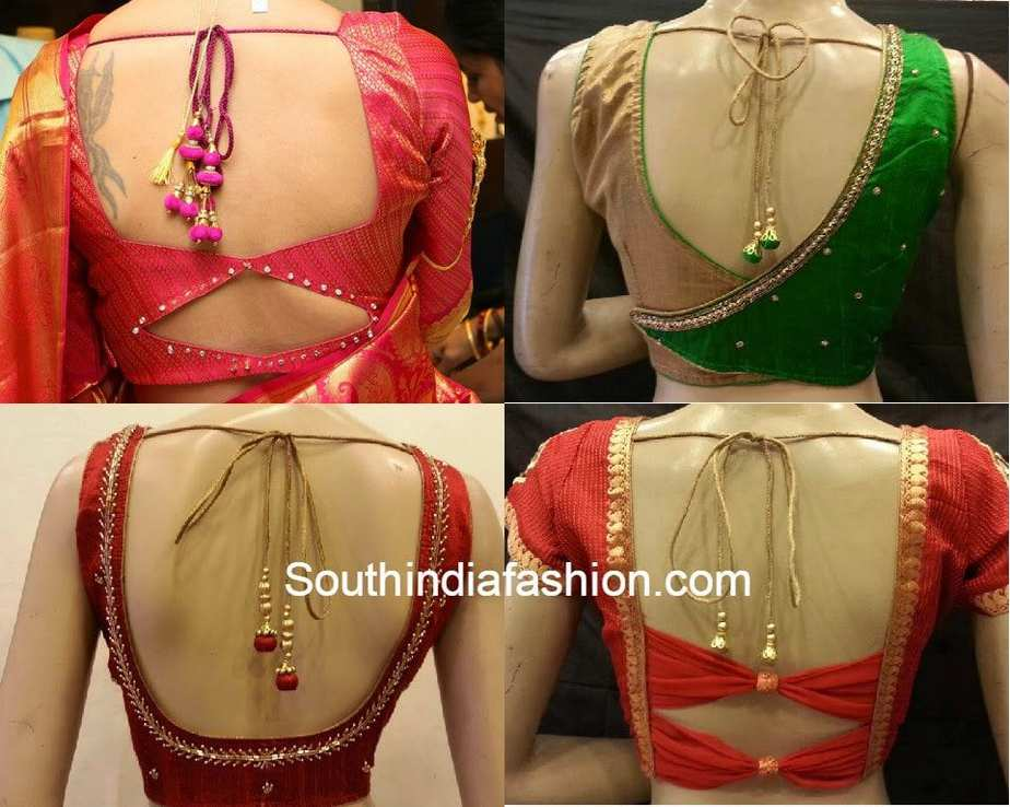 Model Glamorous Blouse Back Neck Designs For Stylish Women