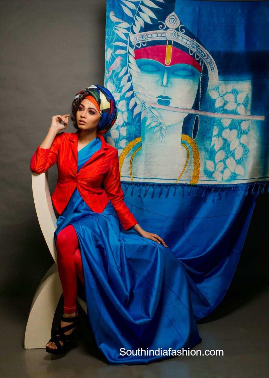 studio6yards hand painted saree