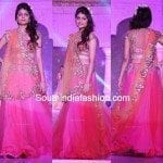 Pink Designer Lehenga by Anushree Reddy