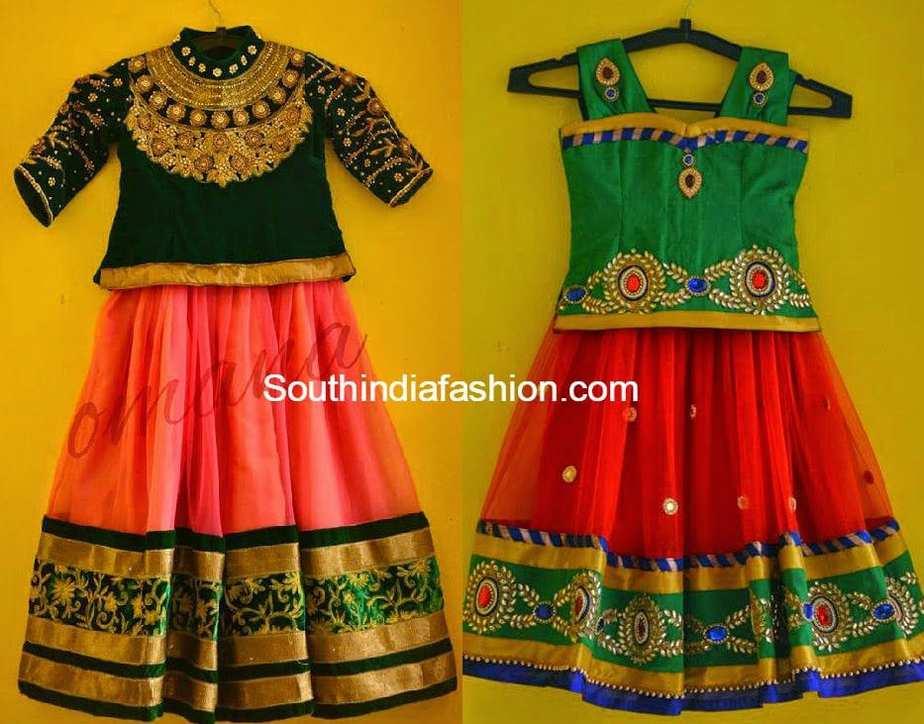 8438dda152d 10 Pretty Kids Lehenga Designs