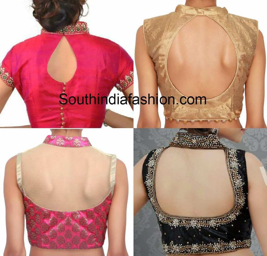 Collar Neck Blouse Back Neck Patterns South India Fashion