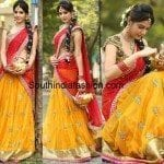 Diksha Panth in Bhargavi Kunam Half Saree