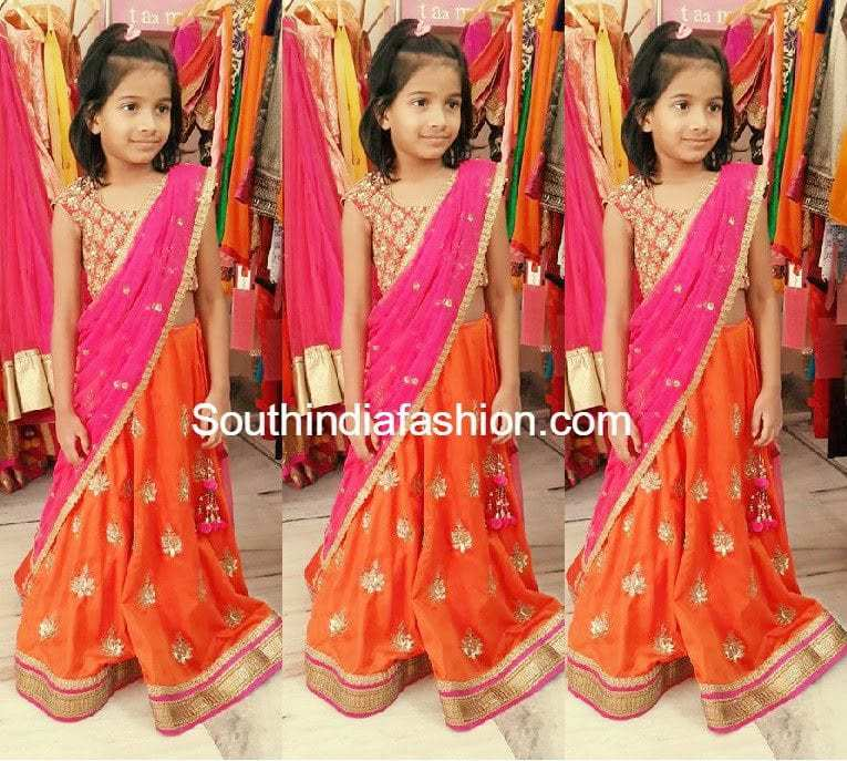 Kids Designer Lehenga Half Saree South India Fashion