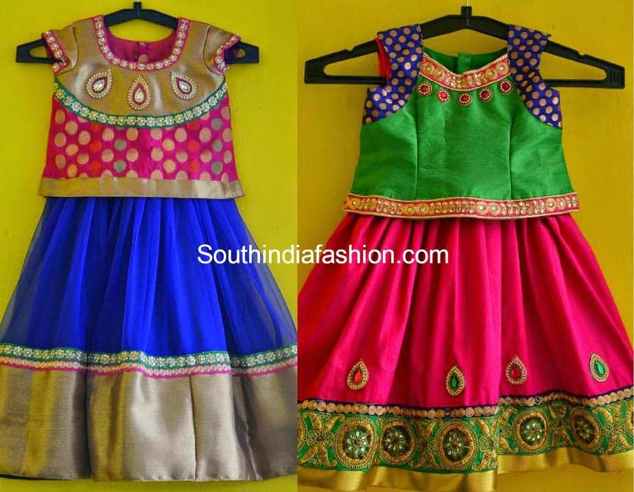 1e507914874 kids lehenga blouse designs