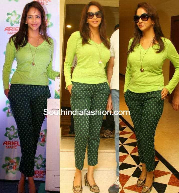 lakshmi manchu in jeans and tshirt