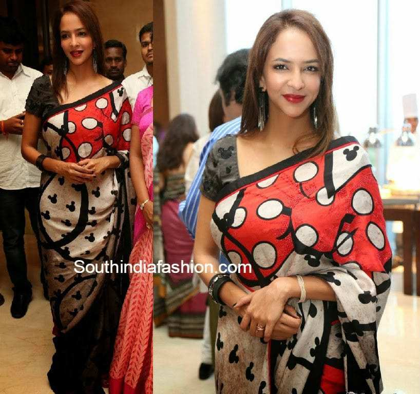 lakshmi manchu printed saree