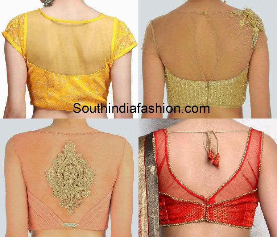 net back neck blouse designs � south india fashion