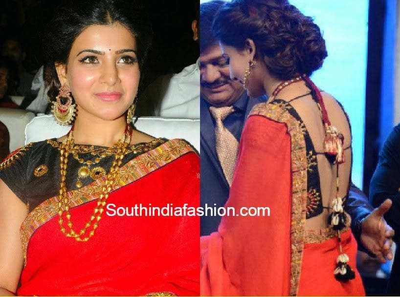 samantha blouse designs