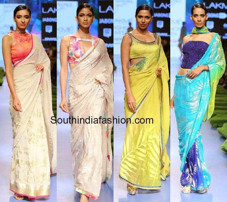 satya paul sarees by gauri khan lfw 2015