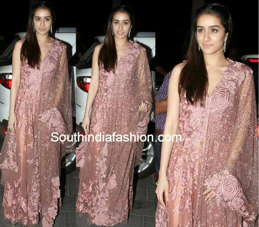 Shraddha Kapoor In Manish Malhotra Anarkali South India Fashion