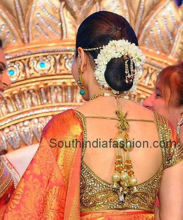 thamanna bridal saree blouse