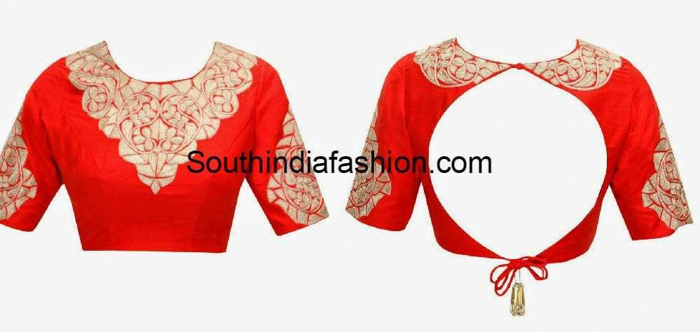 20 Stylish Latest Tie Back Blouse Designs