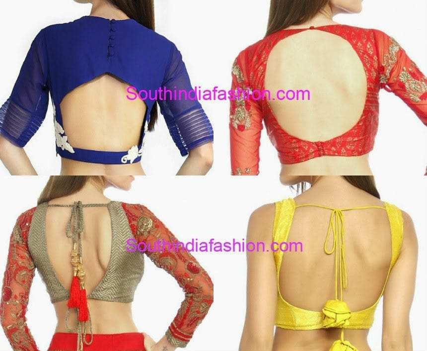 Nice Blouse Back Designs 2