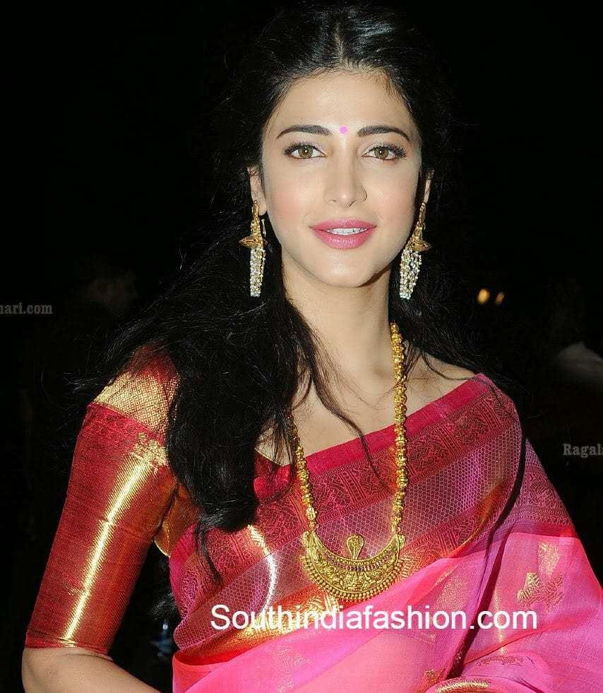 Blouse patterns for silk sarees shruti hassan blouse designs