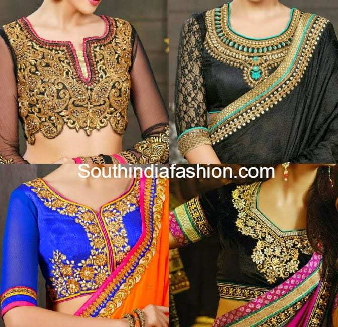 beautiful embroidered blouse designs south india fashion