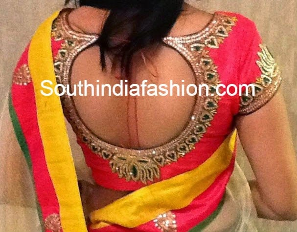 Traditional Blouse Back Designs 81