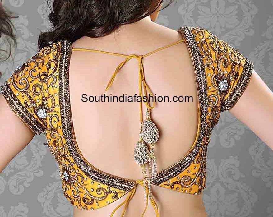 Latest Tie Back Blouse Designs