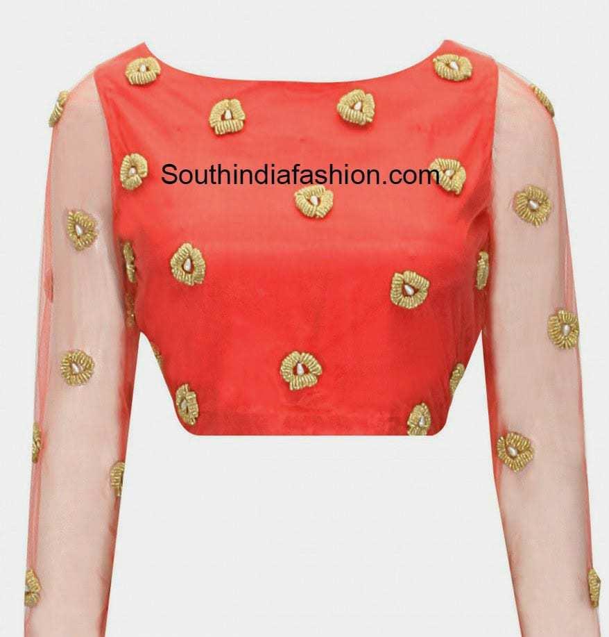 Boat Neck Blouse South India Fashion