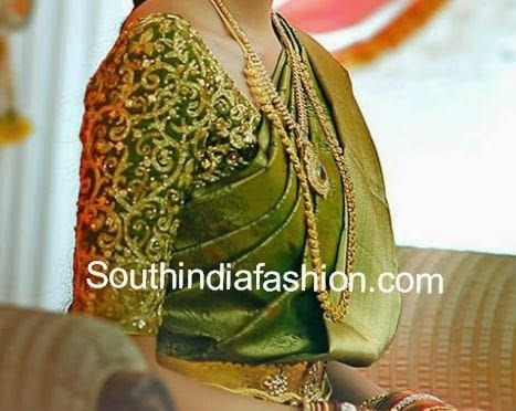 blouse styles for wedding sarees