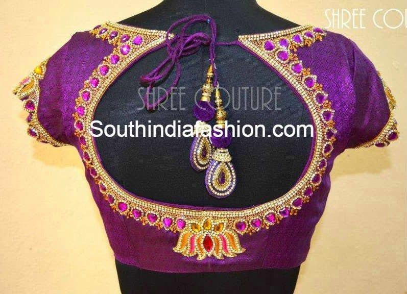 Marriage Blouse Backside Design: Top 10 Blouse Designs for Wedding Silk Sarees u2013 South India Fashionrh:southindiafashion.com,Design