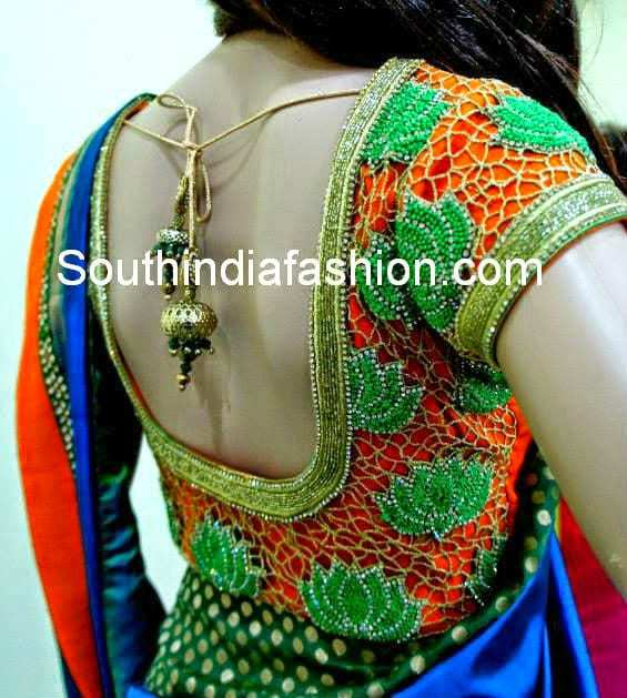 Top 10 Blouse Designs for Wedding Silk Sarees • South India Fashion