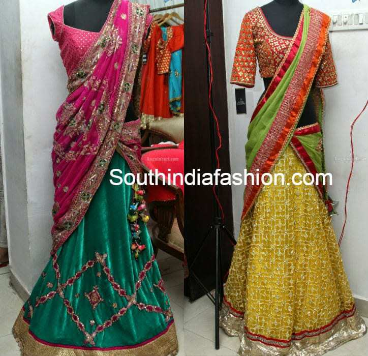 Designer Half Saree Fashion Trends South India Fashion