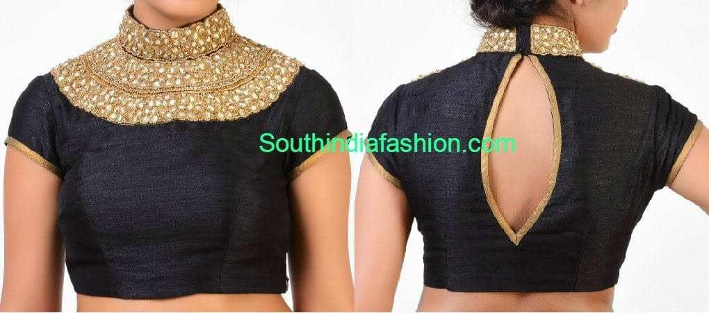 high neck blouse