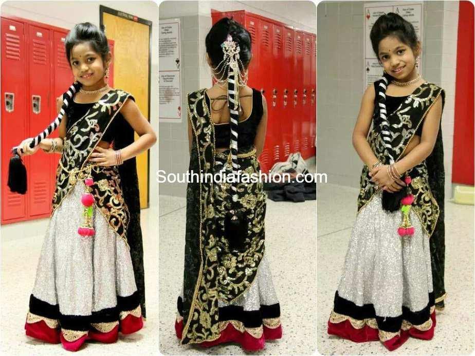 kid in half saree