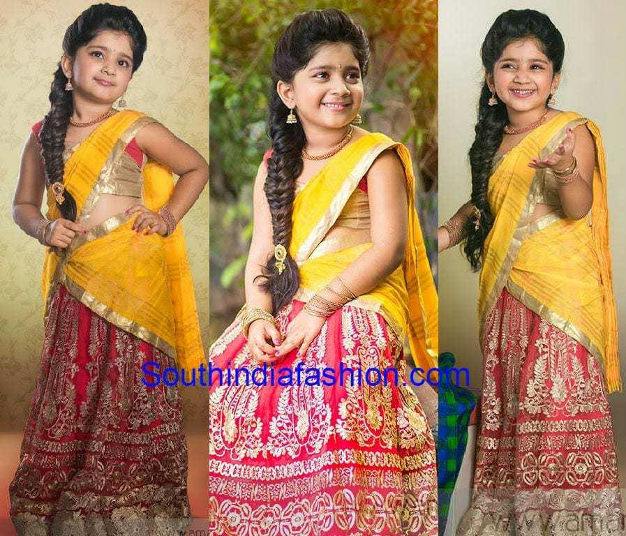 Kids Half Saree South India Fashion