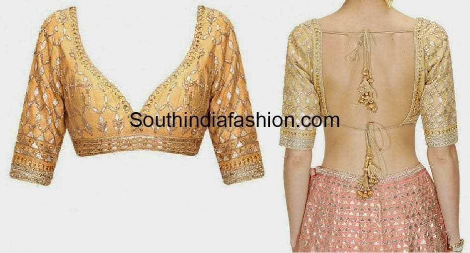 backless chaniya choli designs