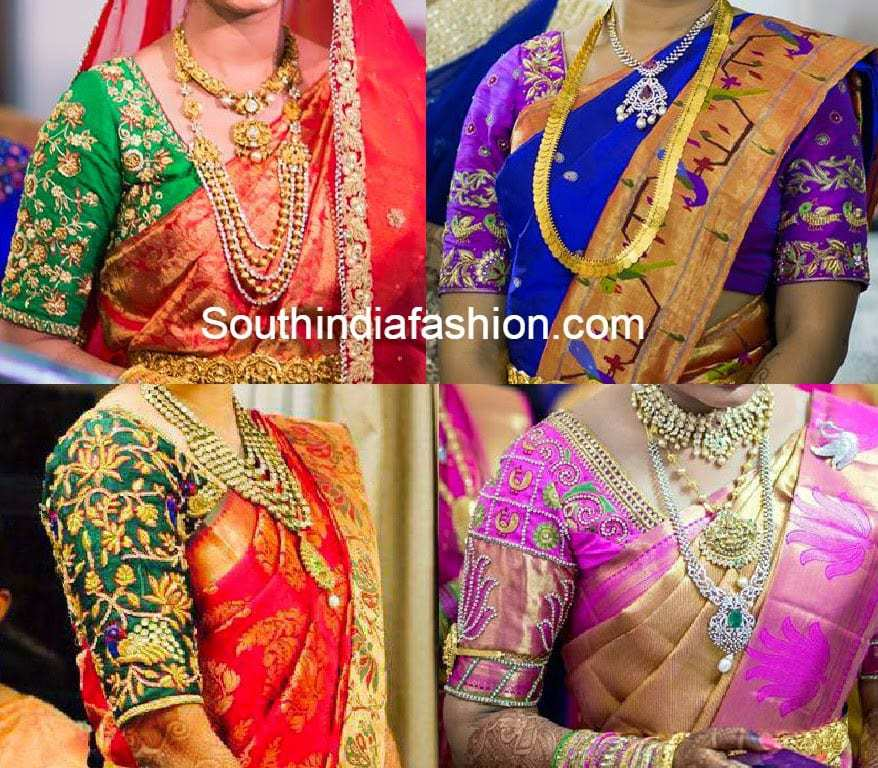 blouse neck styles for wedding sarees 2018 � south india