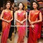 Pranitha Subhash in Kanjeevaram Saree
