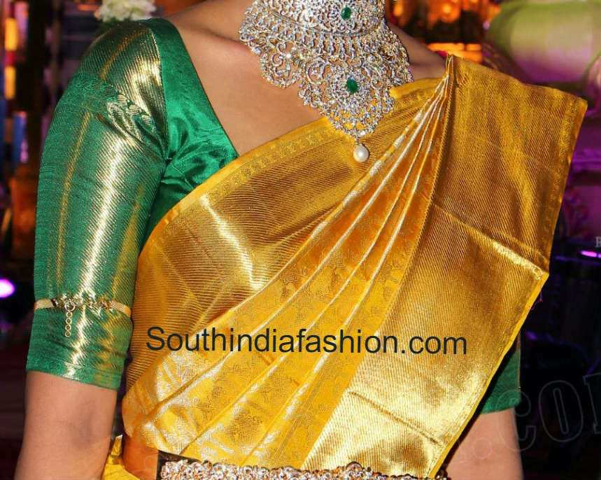 elbow length sleeves blouse for silk sarees