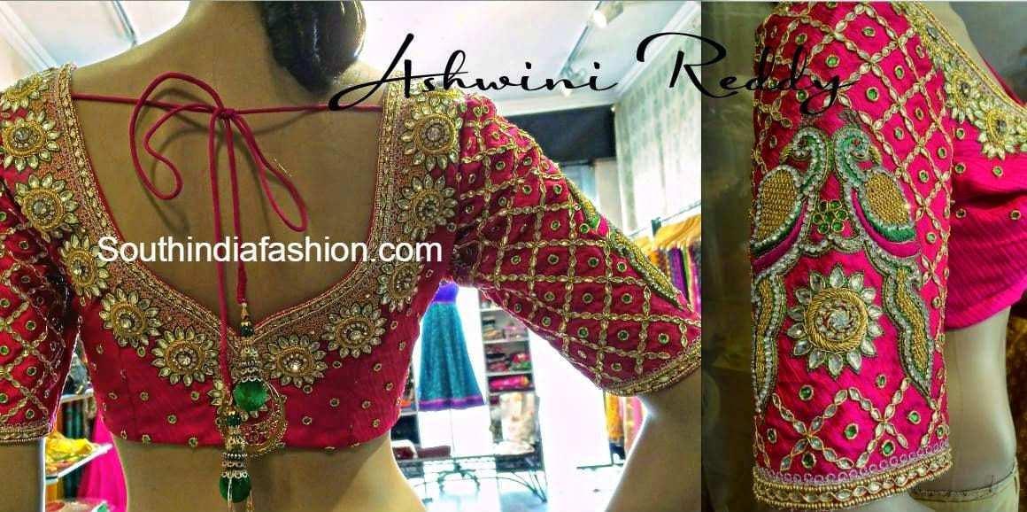 elbow length blouse for silk sarees