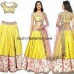 Yellow Lehenga/Half Saree by Anushree Reddy