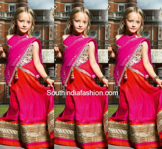 baby half saree