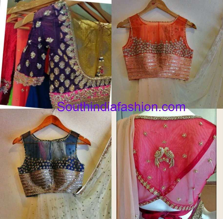 anjali sharma french curve blouse designs