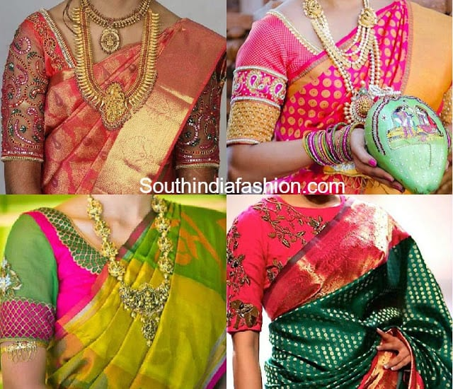Blouse Designs For Pattu Sarees South India Fashion