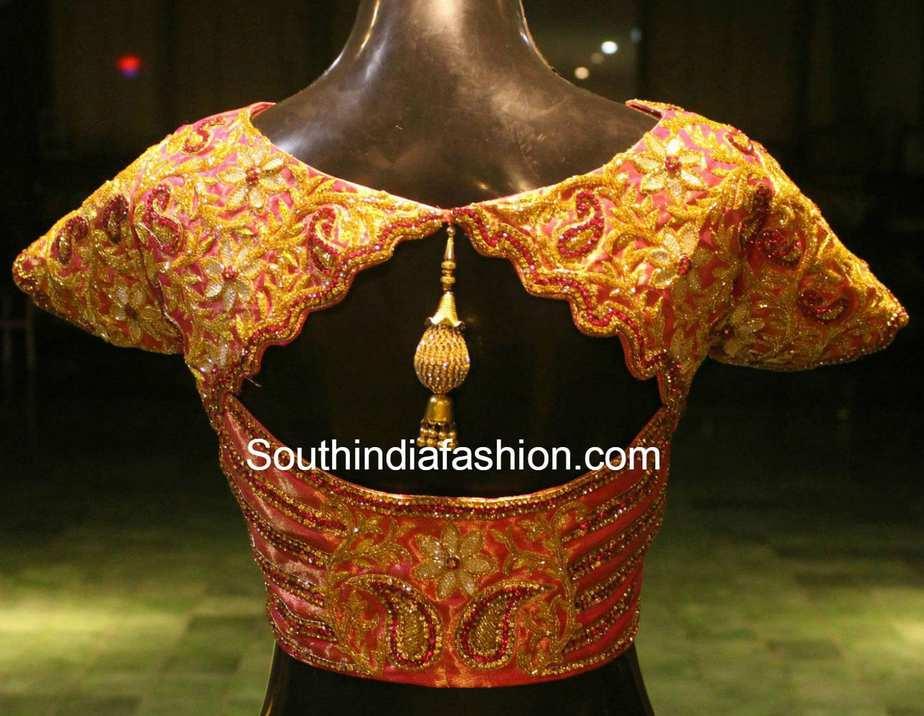 beautiful blouse for kanjeevaram sarees � south india fashion