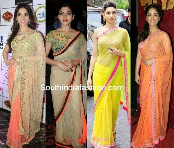 celebrities_in_mirror_work_sarees