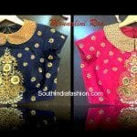 Trendy Collar Neck Designer Blouse